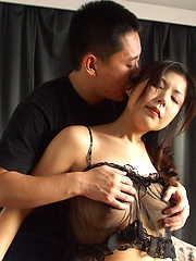 Busty Japanese girl caught
