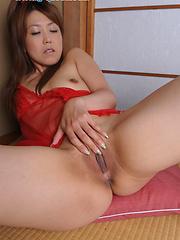 Nana Takesita posing in different sexy clothes