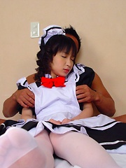 Cute Japanese teen fucked like crazy in her tight holes