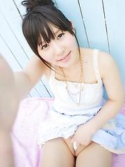Japanese brunette Atsuko Kitamura demonstrating her tiny nuts