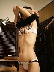 Flexible skinny girl from Japan