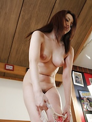 Amateur japanese woman on the massage table