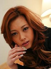 Horny Miho Maejima double blowjob and fuck
