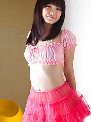 Ai Eikura Asian takes fluffy skirt off and shows naughty behind