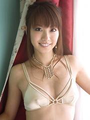 Azusa Yamamoto Asian is a very lustful chick posing so erotically