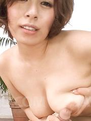 Ririsu Ayaka Asian makes dick even harder with her big melons