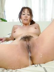 Akari Asagiri Asian has pussy filled with cock, fingers and cum