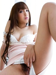 Anri Asian gal with long hair and heels takes dick many positions