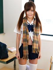 Nao Shiraishi is sexy japanese schoolgirl