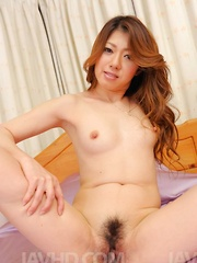 Reina Nishio Asian gets clit teased with teeth brush and vibrator