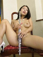 Three nice cocks for slutty Yayoi Yanagida
